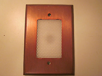 Vintage retro anodized aluminum night nite light lite wall cover plate