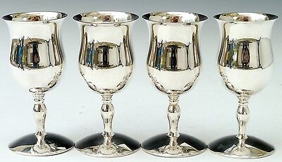 Silver Plated set of 4 Goblets vintage