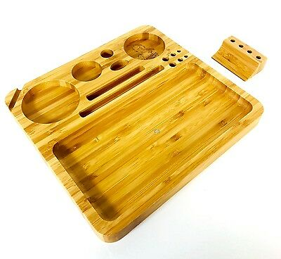 Bamboo Wood Rolling Tray (Large)