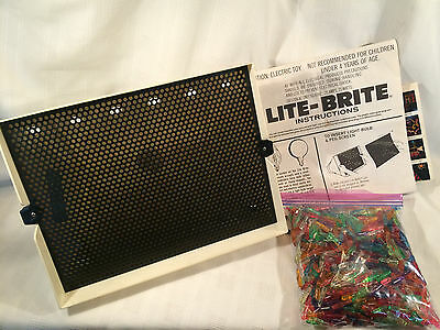 Vintage LITE-BRITE by HASBRO (1978) W/ Box, Pegs, Instructions, & Over 70 Sheets