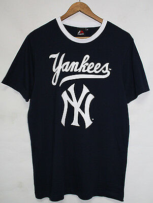 Mens Majestic Athletic MLB New York Yankees Graphic Baseball T Shirt Size M