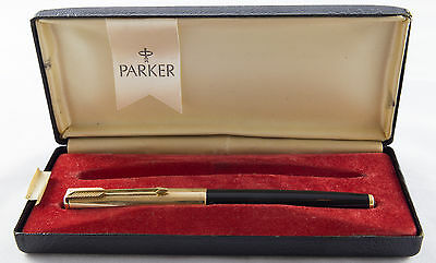 Parker 61 Fountain pen. Made in USA. Black.