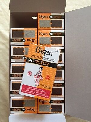 HOYU Bigen Hair Color Powder - #46 - Light Chestnut - 1 Dozen