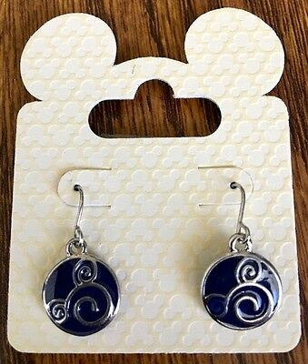 """Disney Jewelry MICKEY """" Navy Blue with Silver Mickey Icon Both Sides """" Earrings"""