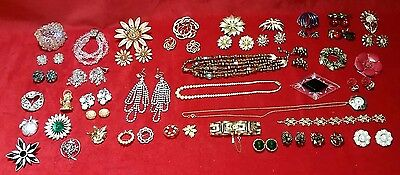 Large Lot of Vintage Costume Jewelry Many Signed Pieces