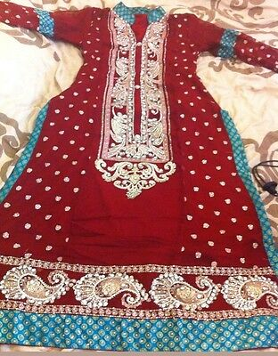 Latest Pakistani Indian Asian stitched dress wedding or partywear