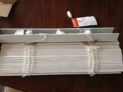 "2"" Faux White Wood Custom Pre-Cut Blinds, Brand New, Set of 2 Pure White"