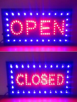 Bright Open & Closed LED Sign  Animated Motion Business Switch Open/Closed
