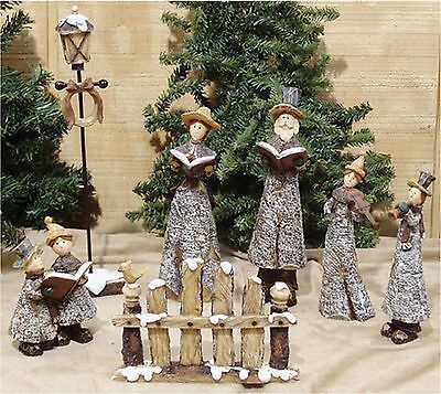 7pc. Primitive Resin Christmas Carolers