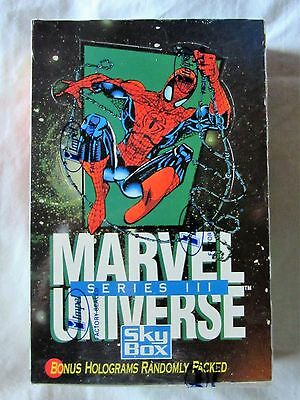 Marvel Universe Series 3 III CARDS Factory Sealed Box 1992 SKY BOX IMPLEL