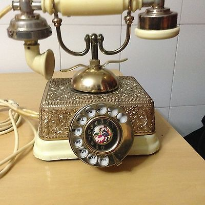 ANTIQUE BRASS METAL( VICTORIAN ) TELEPHONE Rotary Dial (JAPAN MADE)