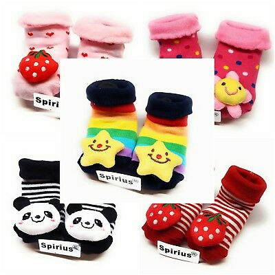 SPIRIUS Baby toddler Boys Girls Cotton socks Booties Shoes Slippers animal warm