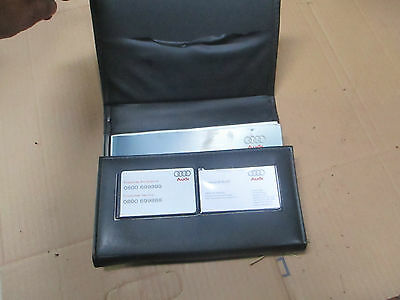 Audi A4 b6 owners manual + leather case 2001 - 2004