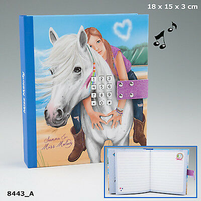 NEW miss melody DIARY WITH CODE WHITE HORSE