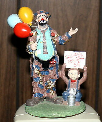 "EMMETT KELLY ""BALLOONS FOR SALE"" LIMITED EDITION FIGURINE BY STANTON ARTS, iNC."