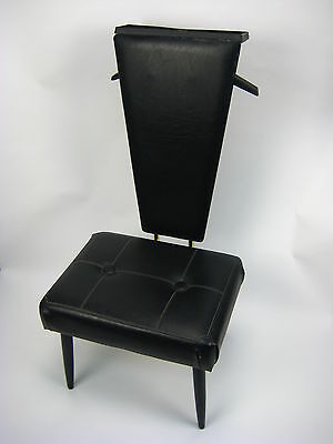 Vintage Pearl-Wick Valet Chair Clothing Stand Butler