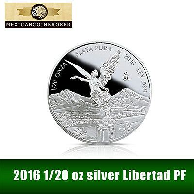 2016 1/20 oz Silver Libertad Proof   *Treasure Coins of Mexico™*