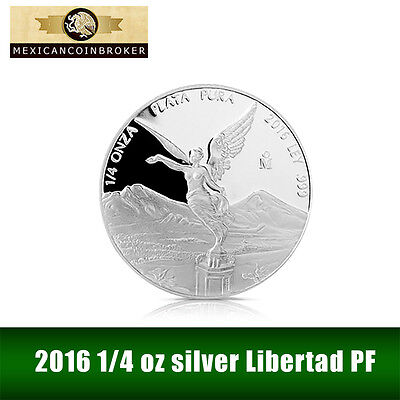 2016 1/4 oz Silver Libertad Proof   *Treasure Coins of Mexico™*