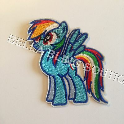 1 Embroidered My Little Pony Rainbow Dash Iron On Sew On Patch Clothes Craft