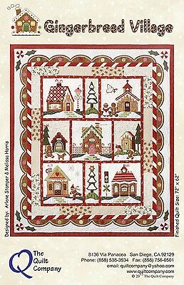 GINGERBREAD VILLAGE COMPLETE SET OF 7 QUILT PATTERNS, From The Quilt Company NEW