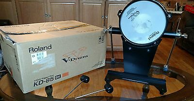 Roland Kd-85 BK V-Drum Kick Bass with 2 mallets and Original Box - Used - Works!
