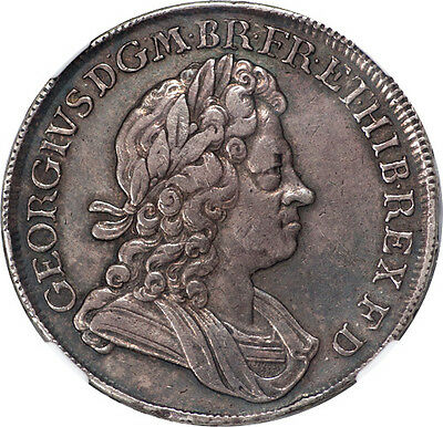Great Britain 1718/16 George I Silver Crown NGC XF-40