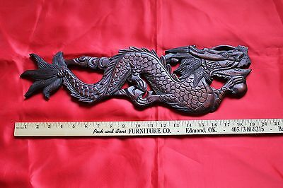 Antique Hand Carved Wood Chinese Dragon Sculpture Beautiful