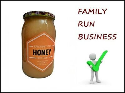Rape Honey - 1.2kg Glass Jar - UK STOCK - Rapeseed  100% Pure, Raw, Natural