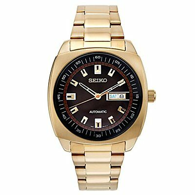 Seiko Mens SNKM98 Gold-Tone Stainless Steel Automatic Watch