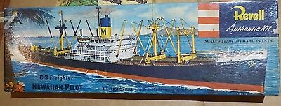 Vintage [1955] Revell C-3 Hawaiian Pilot Freighter  1/380 + Reproduction Decals