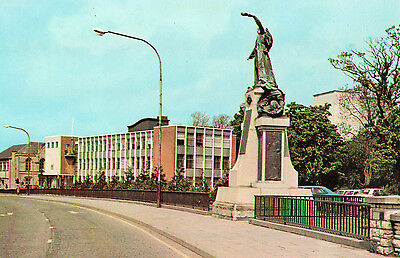 Omagh Co. Tyrone County Hall & Memorial To Royal Inniskilling Fusiliers Postcard