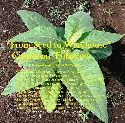 CD - Grow Common Tobacco from Seed to Warehouse - 10 eBooks