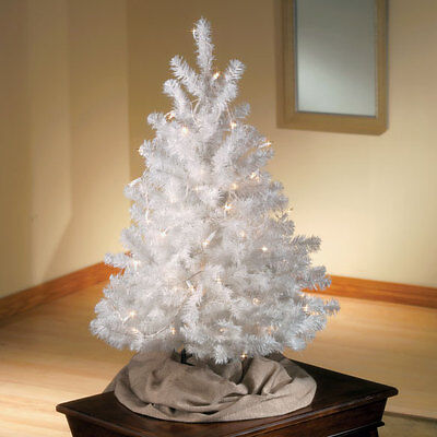 3 Foot Tall Snow White Artificial Decorative Christmas Tree