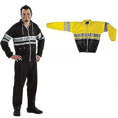 NEW Rally Rain Suit 100% Waterproof M 40  42 Motorcycle Yellow Black NELSON RIGG