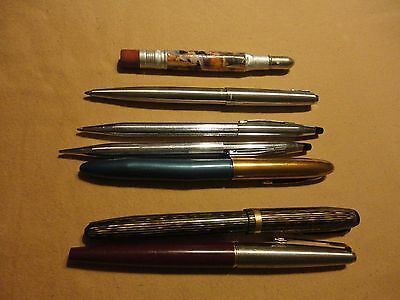 Lot of 7 Cross Parker Eversharp Fountain Pens Pencil New Market VA Caverns