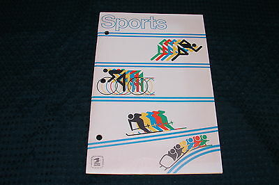 OPC 1973 USPS Sports Portrayed on Stamps Book with Stamps 16 pgs