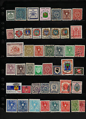 OPC 187 World Wide Shields coats of arms on Stamps Collection #22848