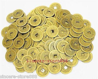 30PCS 24MM Chinese Qing Dynasty Six Emperors Lucky Coins for Health Protection