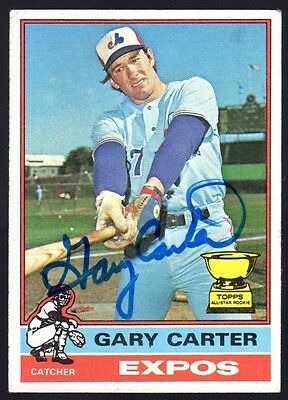 1976 Topps Gary Carter Autographed Card #441 2nd Year Expos HOF