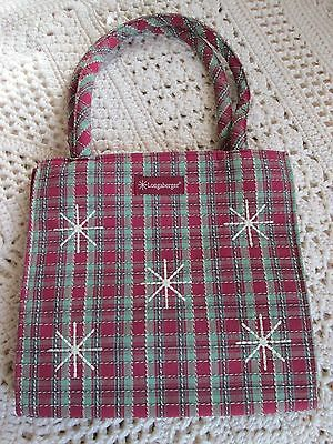 New Longaberger Snowflake Tote/lunch Bag New Holiday/winter