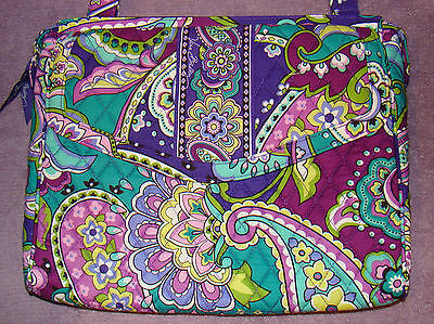 Vera Bradley Heather Hipster Tech/Laptop Shoulder Messenger Bag Purple