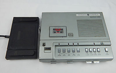 GE General Electric Microcassette Dictation Transcriber 3-5161A Foot Pedal NO AC