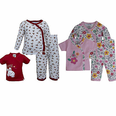 New Baby Girls Pajamas Set 2 Shirts & Pants Outfit Clothes Size 0 3 6 9 months