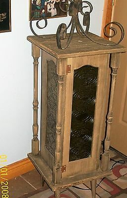 Rare Hand Made Victoria Lantern,lamp,chandelier W Decor  Plastic&wrought Iron