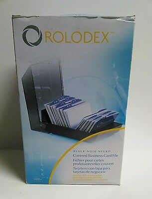 New Rolodex Covered Business Card File (67208) New Includes 200 Sleeved Cards