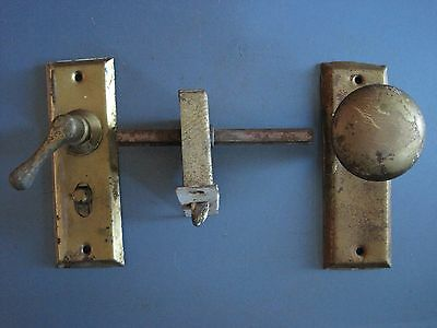 Antique Small Door Knob Lock Set Mortise Face Plate