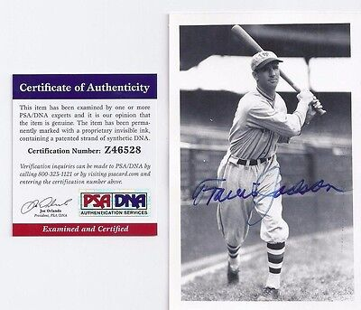 Travis Jackson NY Giants Baseball Autographed Postcard Photo PSA George Brace