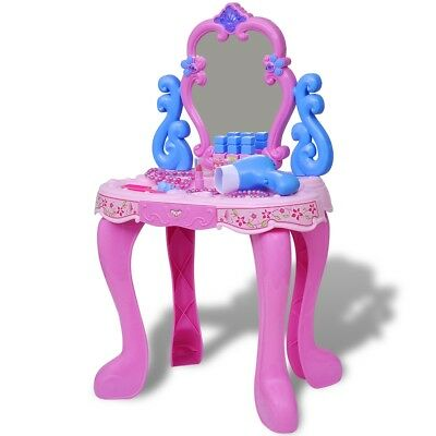 Kids Children Toy Dressing Vanity Table Make Up Desk Light/Sound Pretend Play