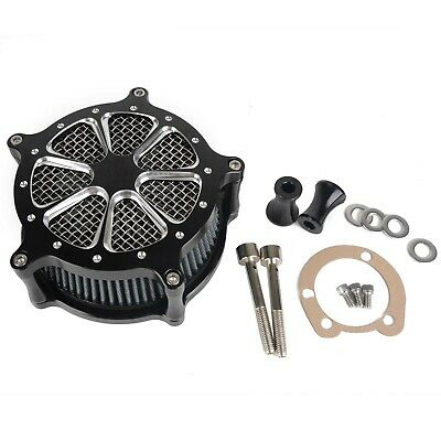 Motorcycle Black CNC Air Cleaner Intake Filter System for Harley Softail Touring