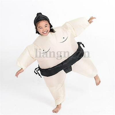 Inflatable Sumo Wrestling Costume For Kids Boys Fancy Dress Outfit Wrestler Suit